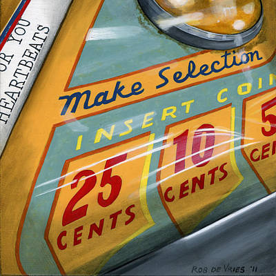 Jukebox Painting - Insert Coin by Rob De Vries