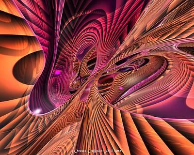 Digital Digital Art - Inside Escher Fx  by G Adam Orosco