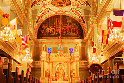 Inside St Louis Cathedral Jackson Square French Quarter New Orleans Accented Edges Digital Art Print by Shawn O'Brien