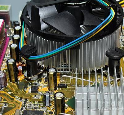 Inside View Of New Computer Print by Yali Shi