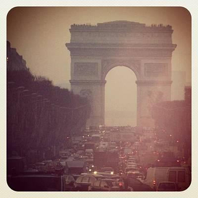 Instagram Photo - L'arc De Triomphe - Paris Print by Marianna Mills