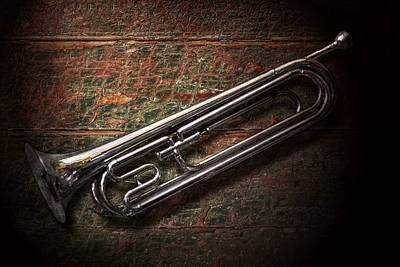 Instrument - Horn - The Bugle Print by Mike Savad