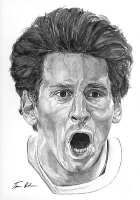 Intensity Lionel Messi Print by Tamir Barkan