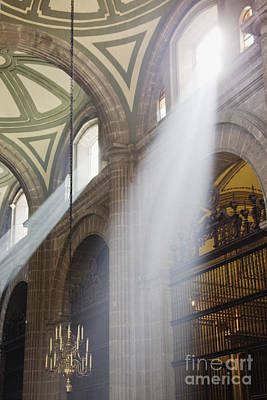 Interior Of Mexico City Metropolitan Cathedral Print by Jeremy Woodhouse