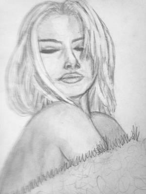 Playboy Drawing - Into Me  by Cara Surdi