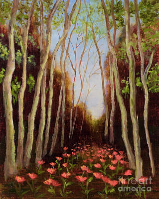 Mo Artist Painting - Into The Woods-poppies by Vic  Mastis