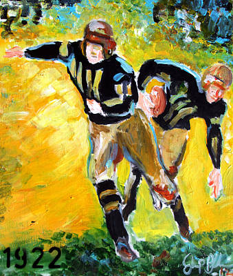 Painting - Iowa Hawkeyes 1922 by Jon Baldwin  Art