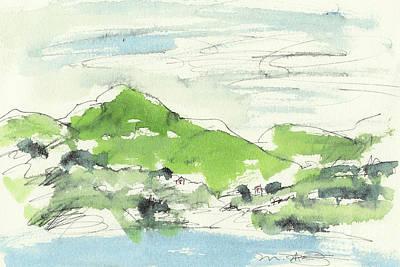 Irish Bay Print by Marilyn MacGregor