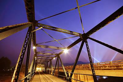 Twilight Views Photograph - Iron Bridge  by Setsiri Silapasuwanchai