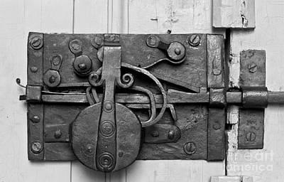 Iron Door Lock Print by Heiko Koehrer-Wagner