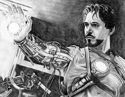 Iron Man Print by Gil Fong