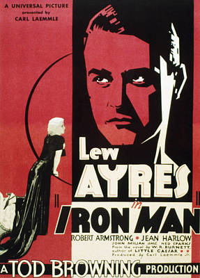 Postv Photograph - Iron Man, Jean Harlow, Lew Ayres, 1931 by Everett