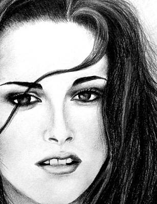 New Moon Drawing - Isabella by Lena Day