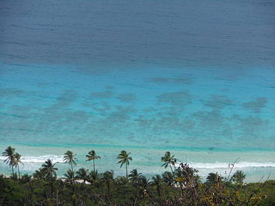 Photograph - Island Beach With Palm Trees And Turquoise Ocean by