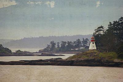 Island Lighthouse - Textured Print by Marilyn Wilson