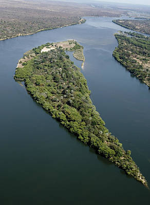 Zambesi River Photograph - Island On The Zambezi River by Tony Camacho
