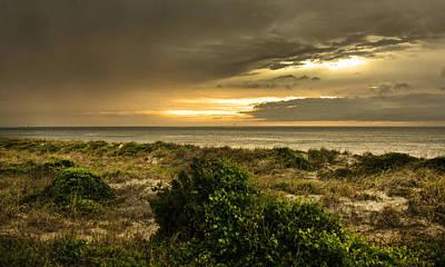 Island Storm Sunset Print by Betsy C Knapp