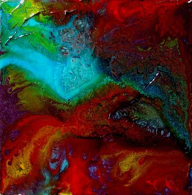 Textured Mixed Media - Island Tropicale Triptych by Holly Anderson