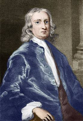 Issac Newton, English Physicist Print by Sheila Terry