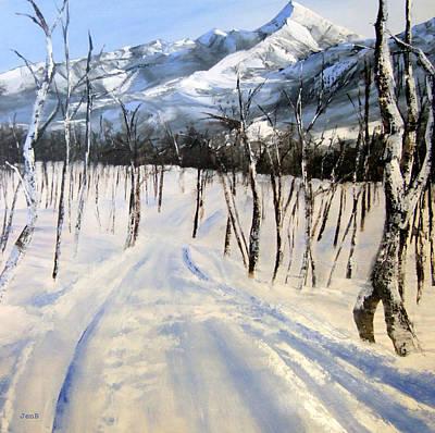 Istidan Mountain Print by Jennifer  Blenkinsopp