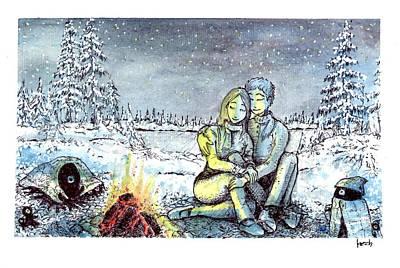 Mixed Media - It Ain't So Cold Tonight by Katchakul Kaewkate