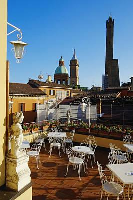 Italy, Bologna,towers Degli Asinelli And Garisenda Print by Bruno Morandi