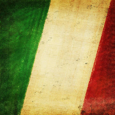 Italy Flag Print by Setsiri Silapasuwanchai