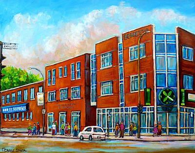 Montreal Buildings Painting - J E Hanger Montreal by Carole Spandau
