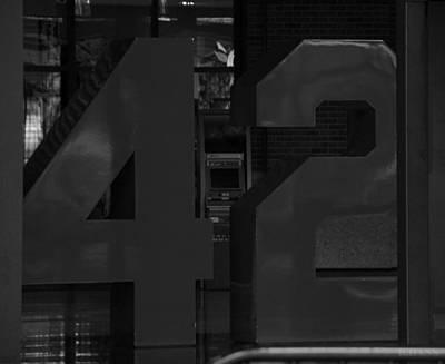 Stadium Scene Digital Art - Jackie Robinson In Black And White by Rob Hans