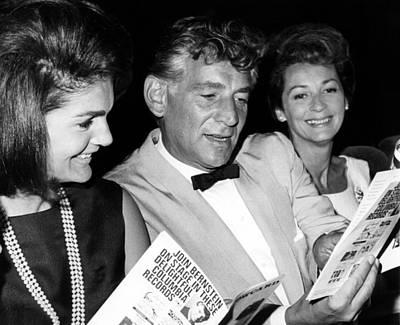 Jacqueline Kennedy, Leonard Bernstein Print by Everett