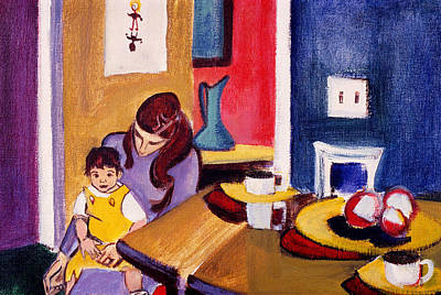 Curvilinear Painting - Jacquie And Jon by Betty Pieper