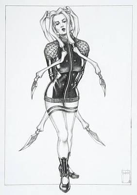 Manga Drawing - Jade - The Whitehead Bride by Sean Smith