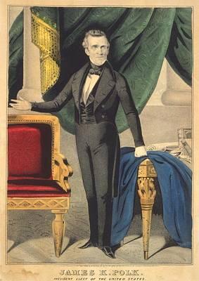 James K. Polk As President Elect Print by Everett