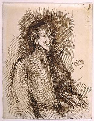 Self-portrait Photograph - James Mcneill Whistler 1834-1903 by Everett