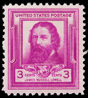 James Russell Lowell Postage Stamp Print by James Hill