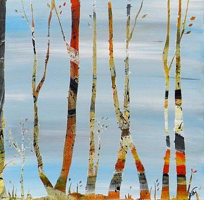 Jamies Trees Print by Heather  Hubb