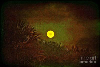 January 2012 Full Moon Print by Susanne Van Hulst