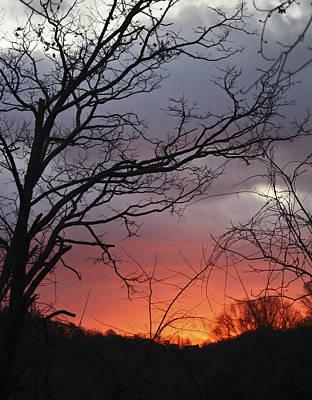 January Sunrise 4 Print by Teresa Mucha