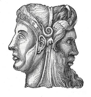 Janus, Roman God Print by Photo Researchers