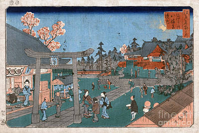 Japan: Hachiman Shrine, 1853 Print by Granger