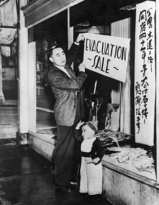 Japanese-american Merchant Posts A Sale Print by Everett