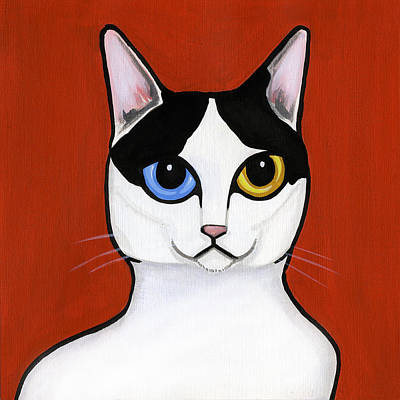 Cat Painting - Japanese Bobtail by Leanne Wilkes