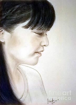 Portrait Drawing - Japanese Singer Beautiful Natsukawa Rimi by Jim Fitzpatrick