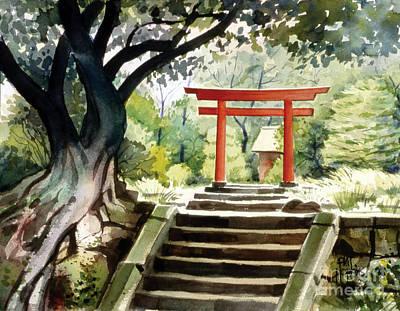 Phil Hopkins Painting - Japanese Tori by Phil Hopkins