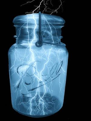 Storage Digital Art - Jarred Lightning by Jack Zulli