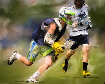 Lacrosse Painting - Jaxx Lacrosse 1 by Scott Melby