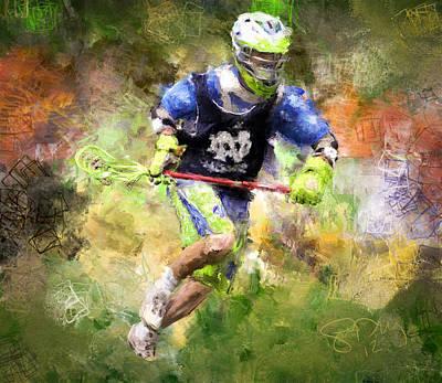 Lacrosse Painting - Jaxx Lacrosse 2 by Scott Melby