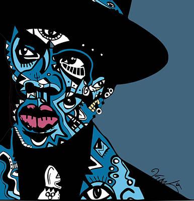 Rap Digital Art - Jay Z  Full Color by Kamoni Khem