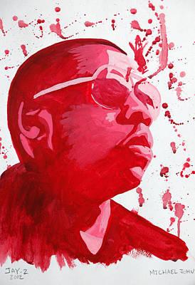 Jay Z Painting - Jay-z by Michael Ringwalt
