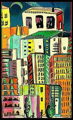 Jazz City Print by Mindy Newman